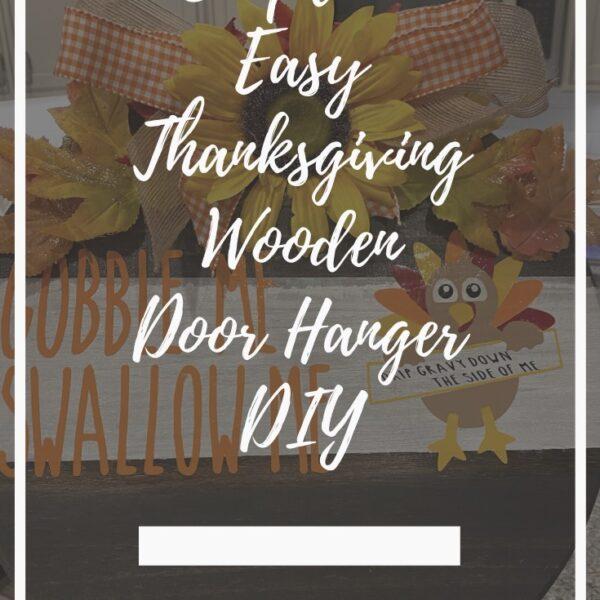 DIY Round Wooden Door Hanger for Thanksgiving