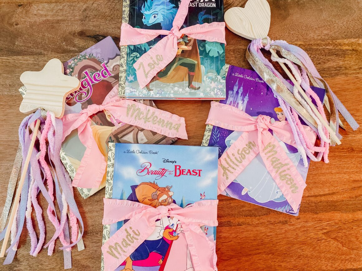 Customized Disney Little Golden Book Party Favor Cricut DIY